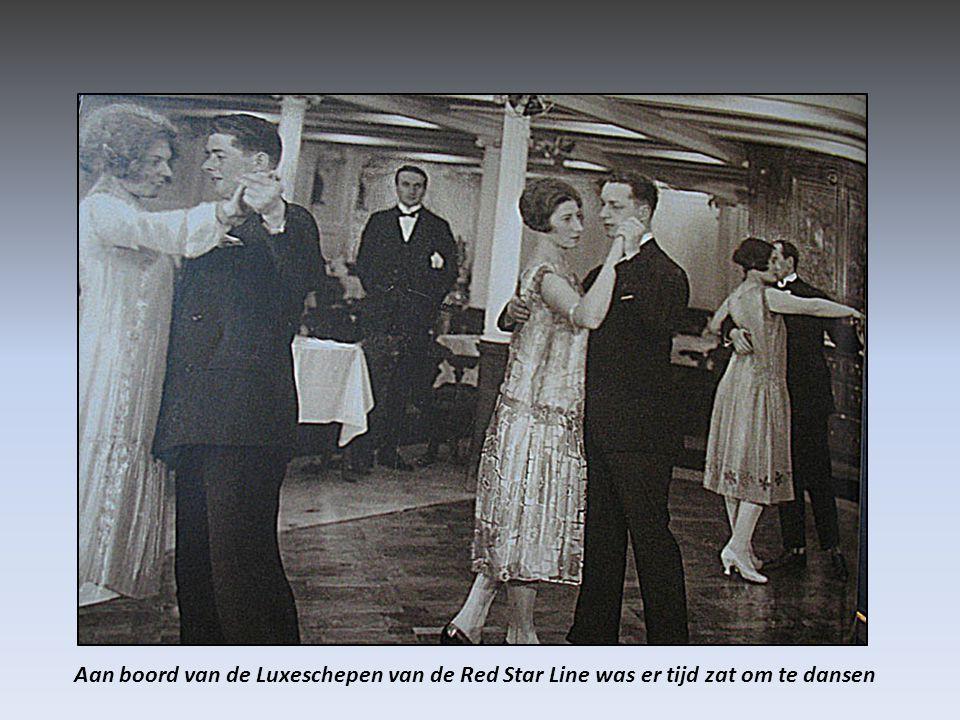 Aan boord van de Luxeschepen van de Red Star Line was er tijd zat om te dansen