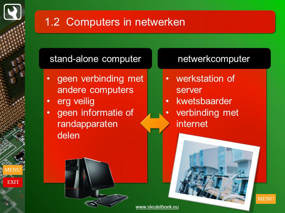 1.2 Computers in netwerken