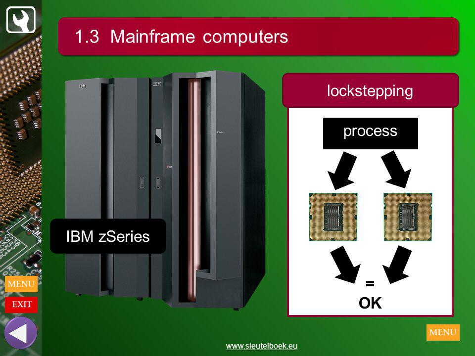1.3 Mainframe computers lockstepping process IBM zSeries = OK