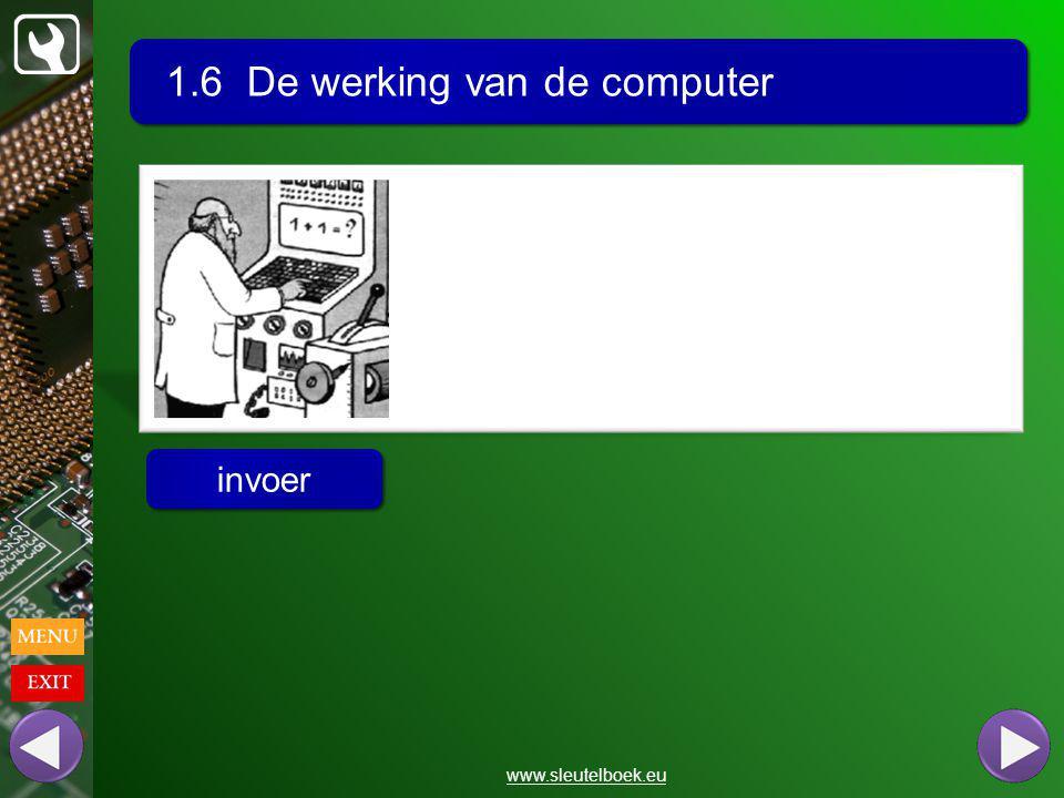 1.6 De werking van de computer