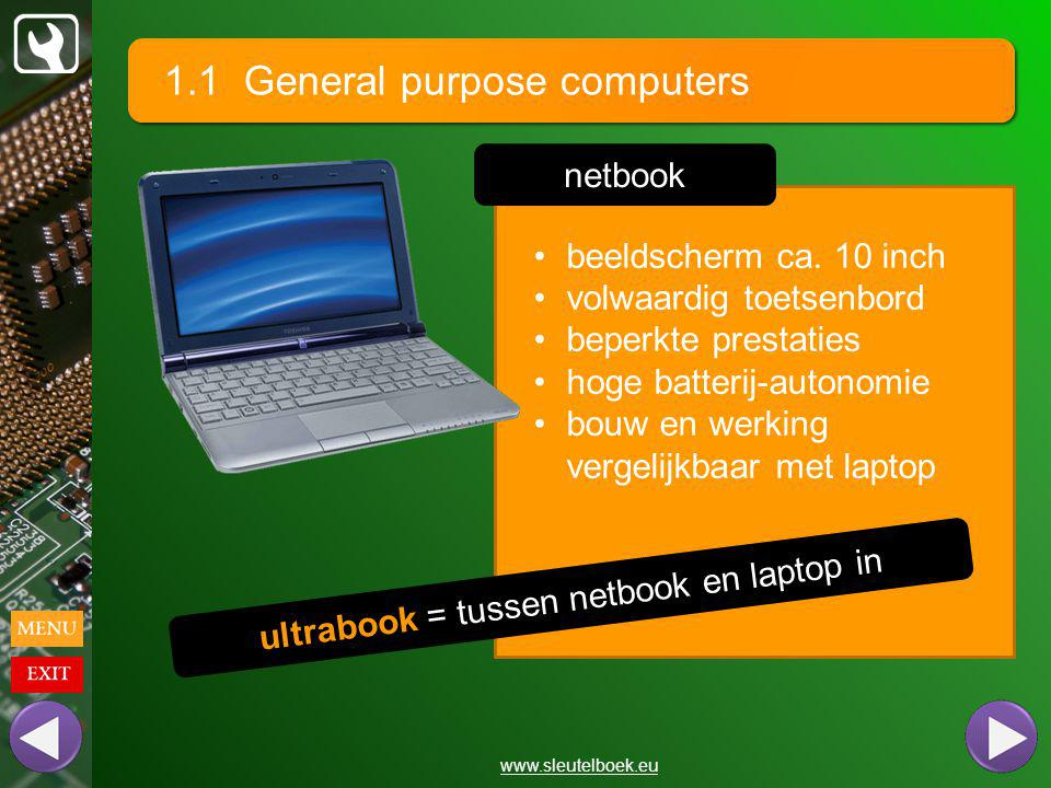 ultrabook = tussen netbook en laptop in