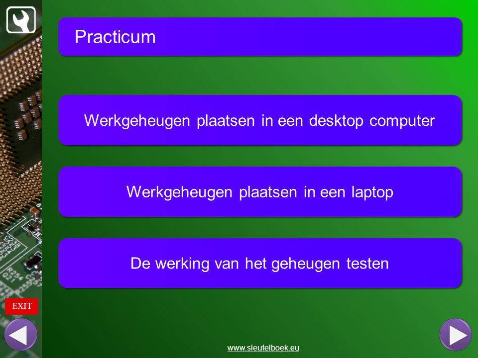 Practicum Werkgeheugen plaatsen in een desktop computer