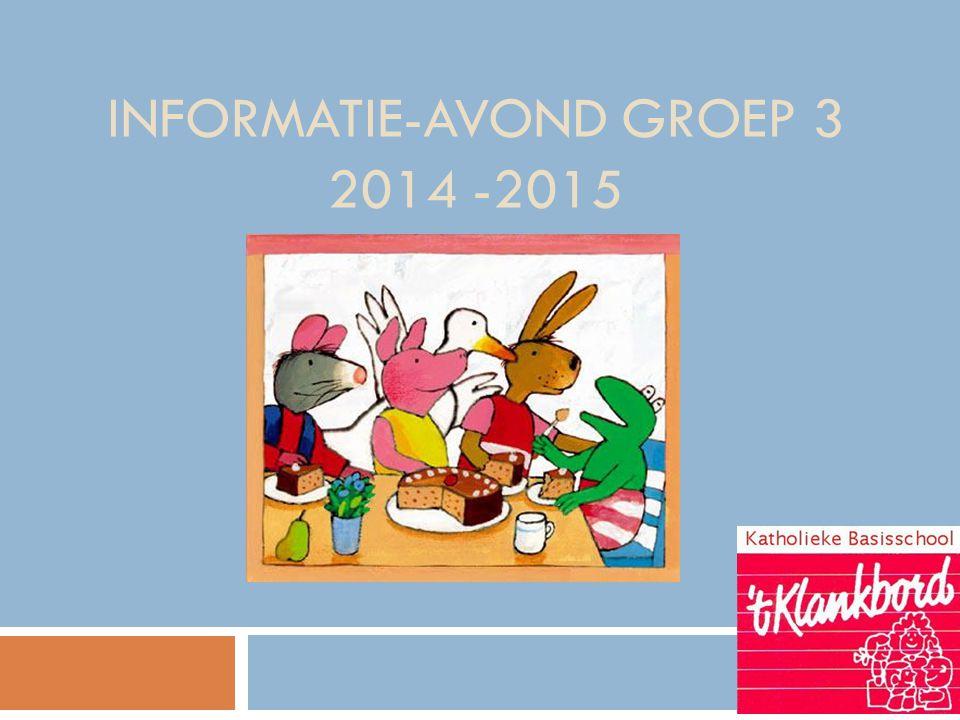 INFORMATIE-AVOND GROEP 3 2014 -2015