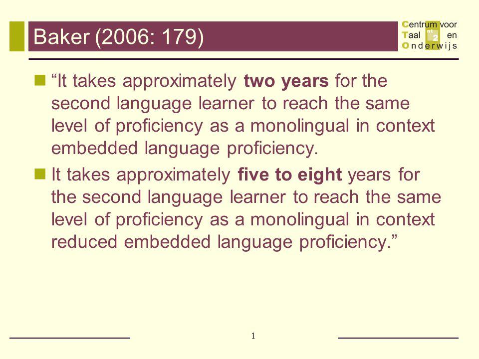 Baker (2006: 179)