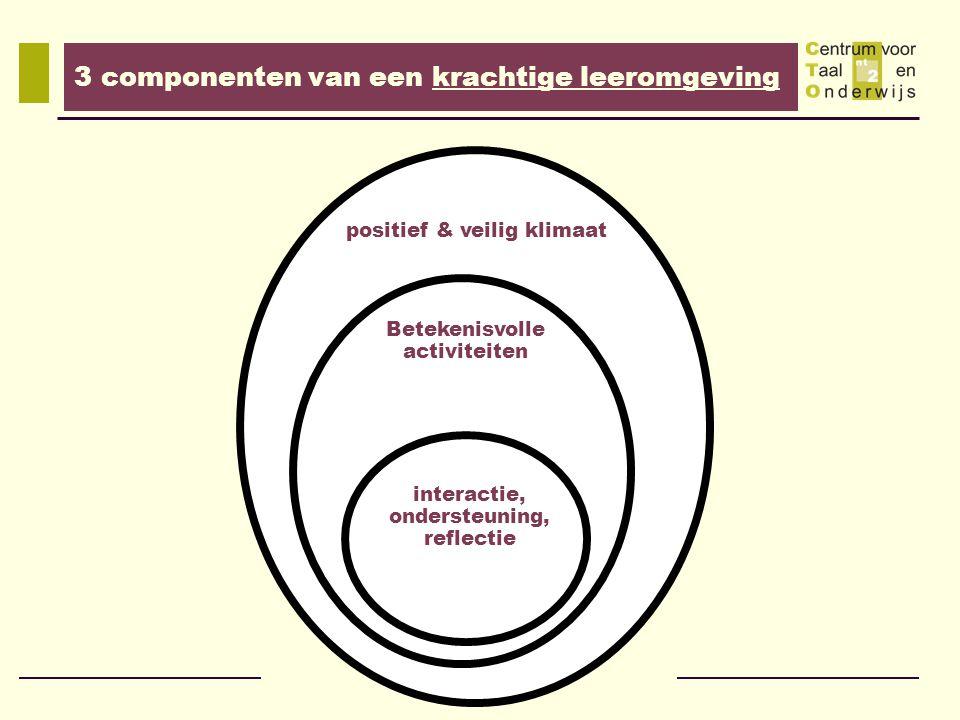 3 componenten van een krachtige leeromgeving