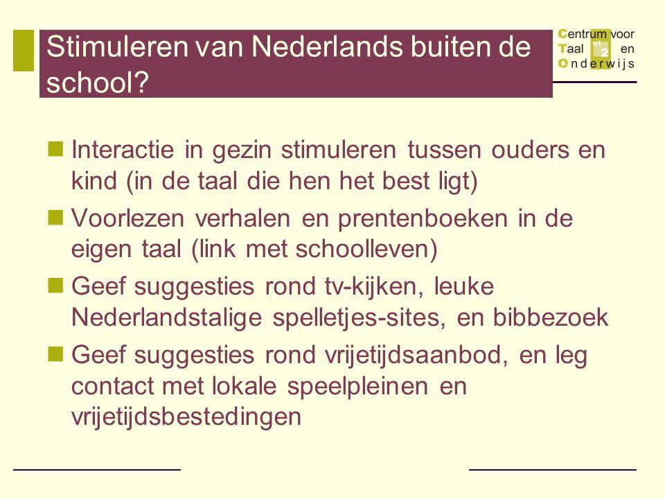 Stimuleren van Nederlands buiten de school