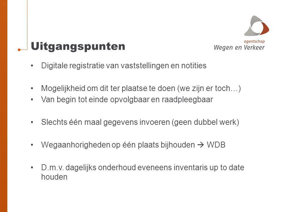 Uitgangspunten Digitale registratie van vaststellingen en notities