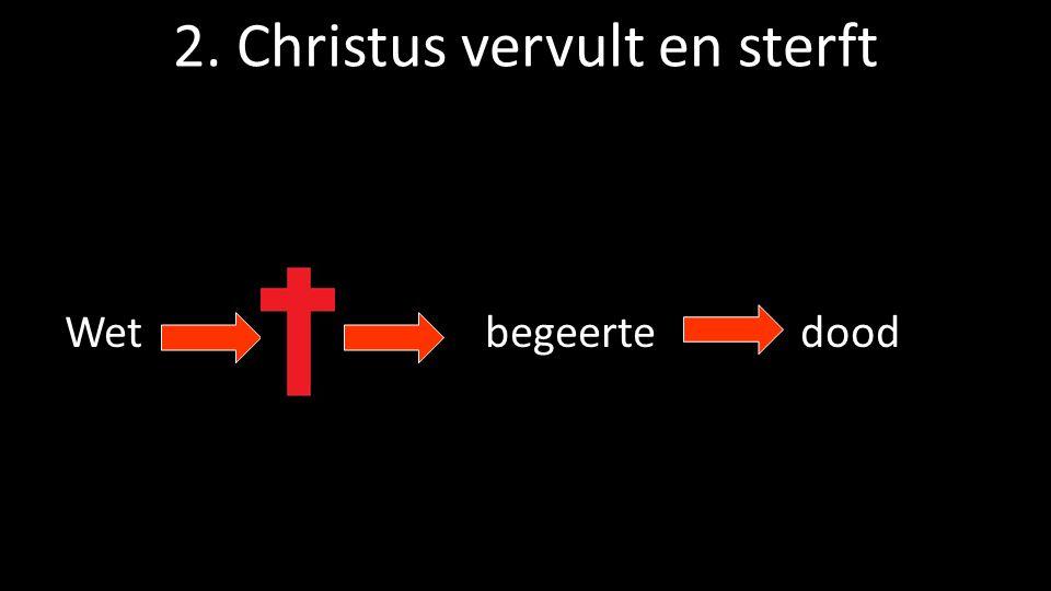 2. Christus vervult en sterft