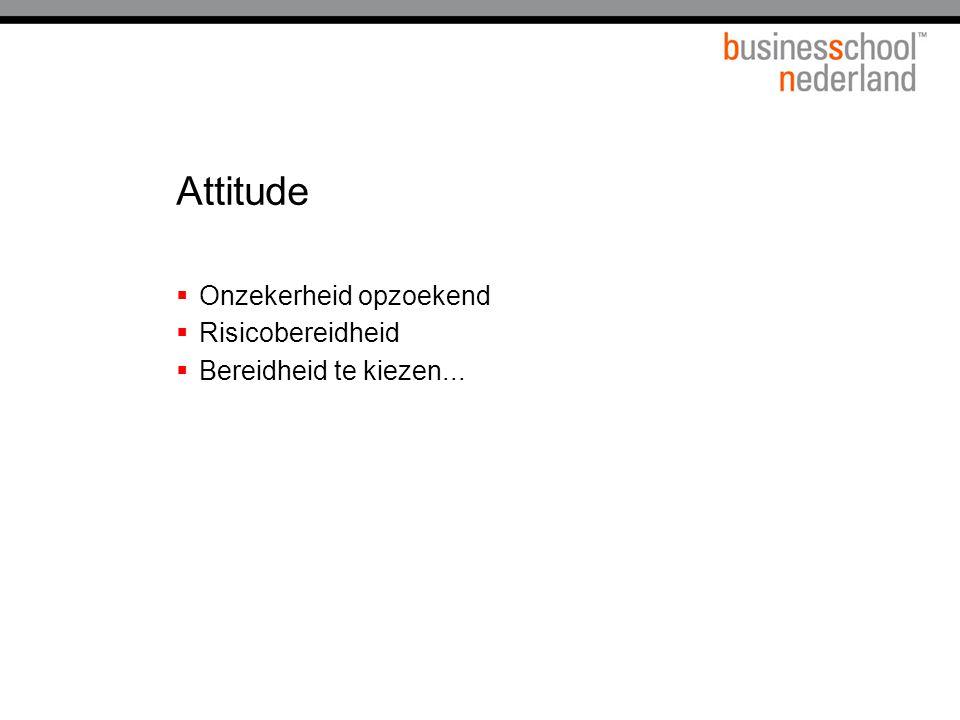 Attitude Onzekerheid opzoekend Risicobereidheid
