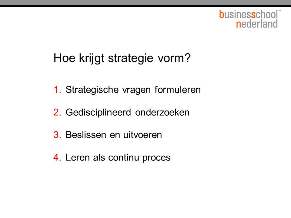Hoe krijgt strategie vorm