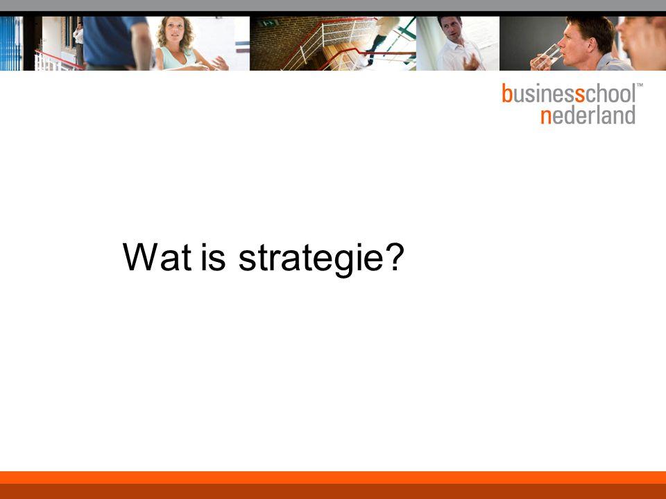 Wat is strategie