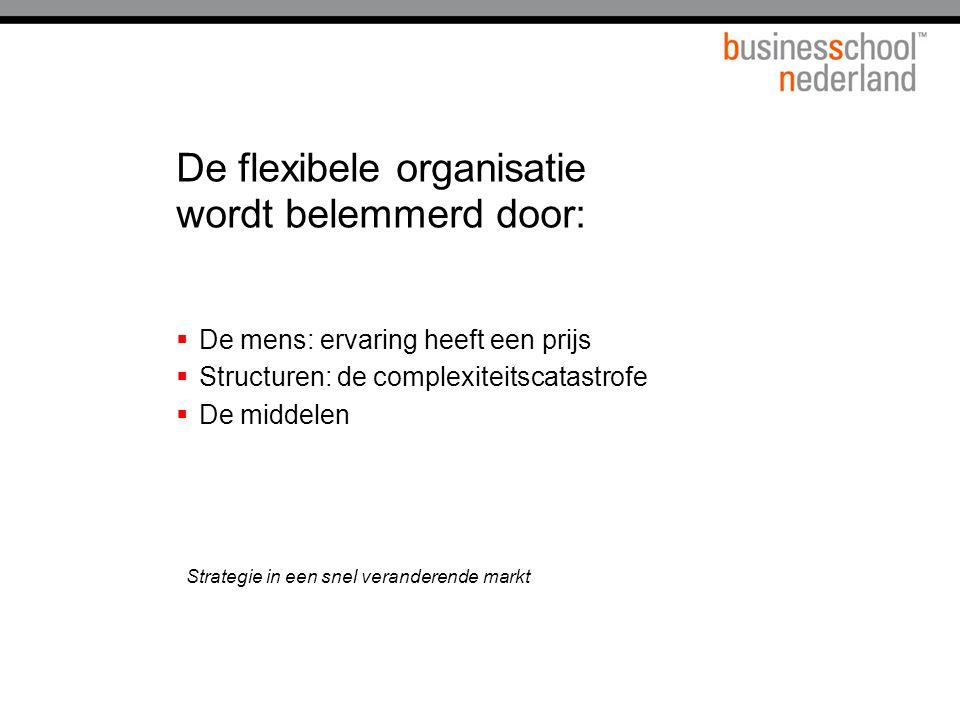 De flexibele organisatie wordt belemmerd door: