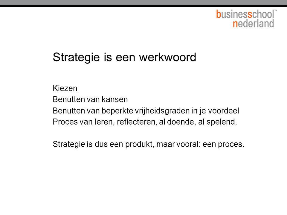 Strategie is een werkwoord