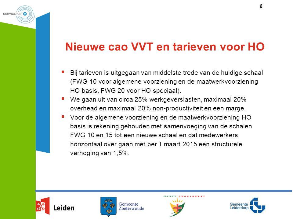 Nieuwe cao VVT en tarieven voor HO