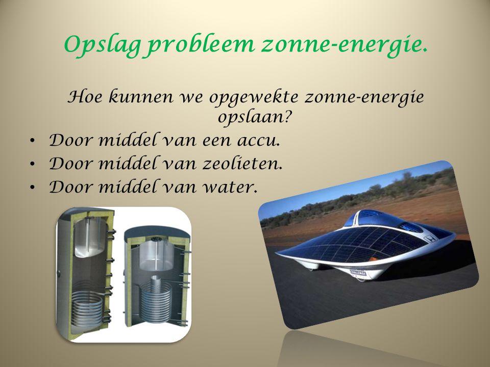 Opslag probleem zonne-energie.