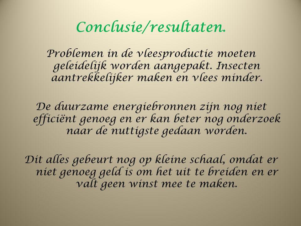 Conclusie/resultaten.