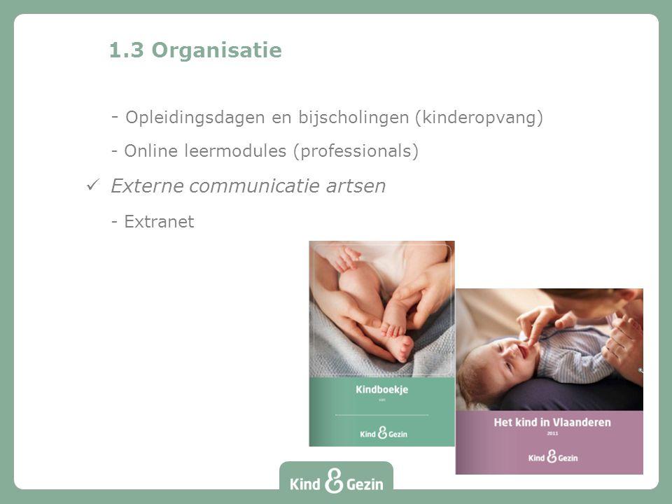 1.3 Organisatie - Opleidingsdagen en bijscholingen (kinderopvang)