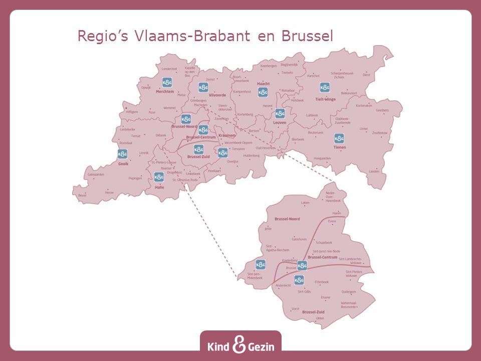 Regio's Vlaams-Brabant en Brussel