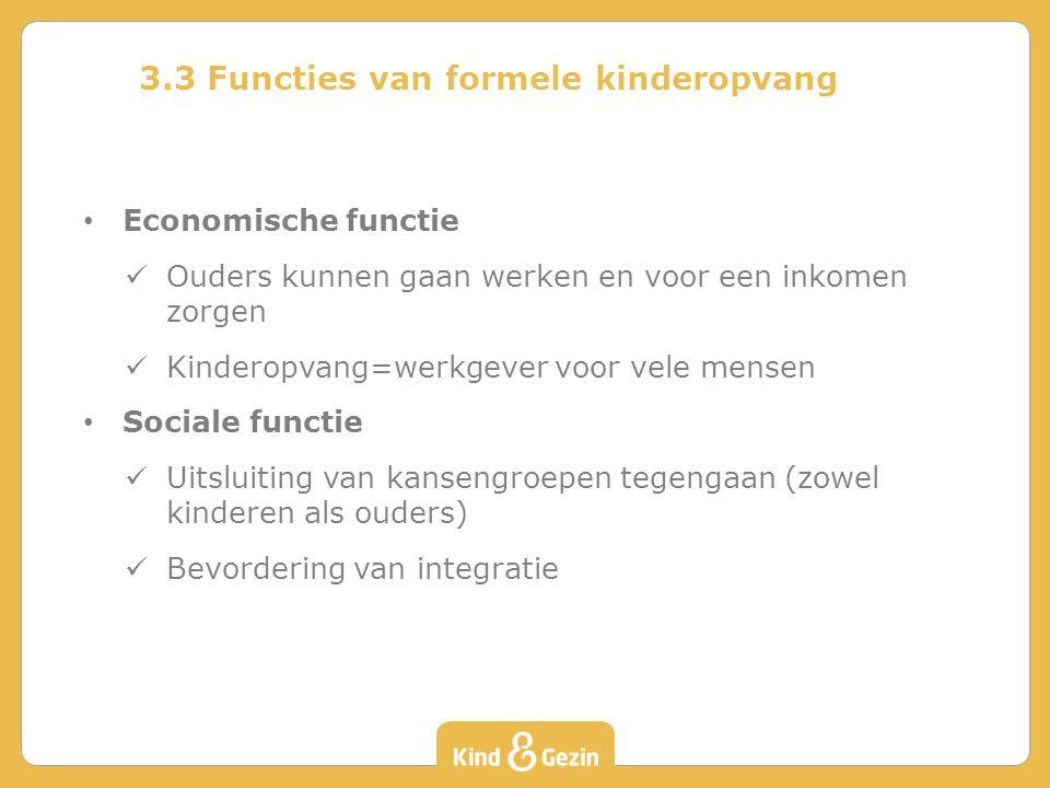 3.3 Functies van formele kinderopvang
