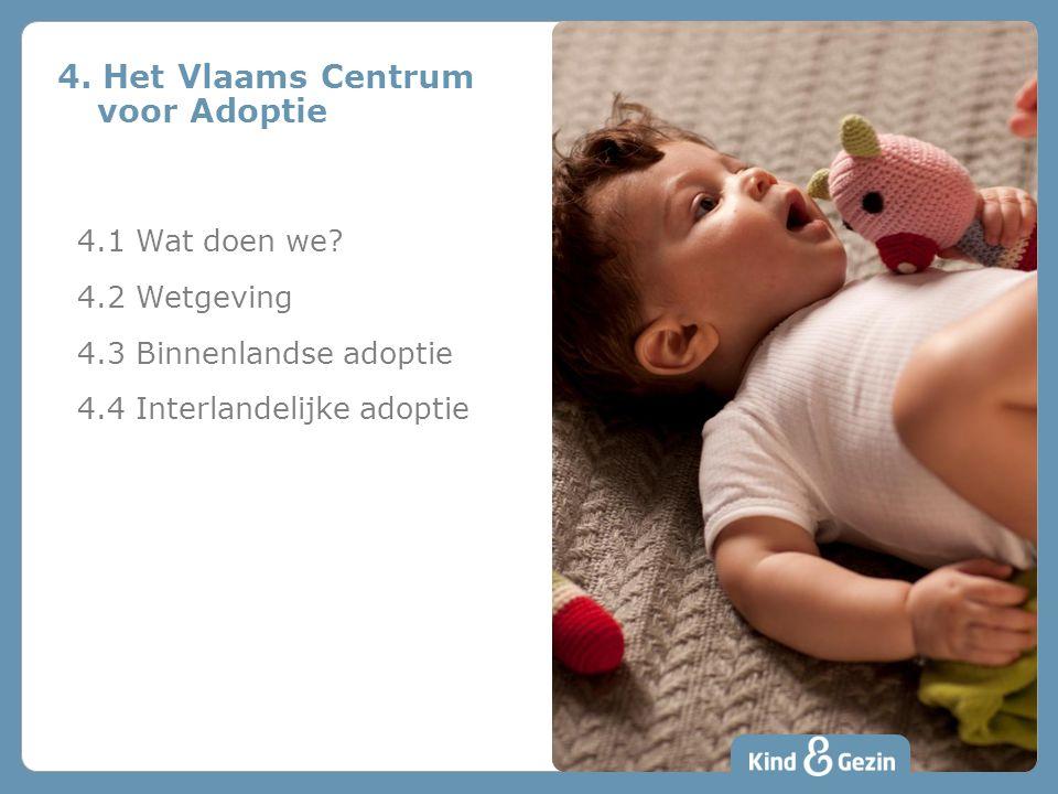 4. Het Vlaams Centrum voor Adoptie