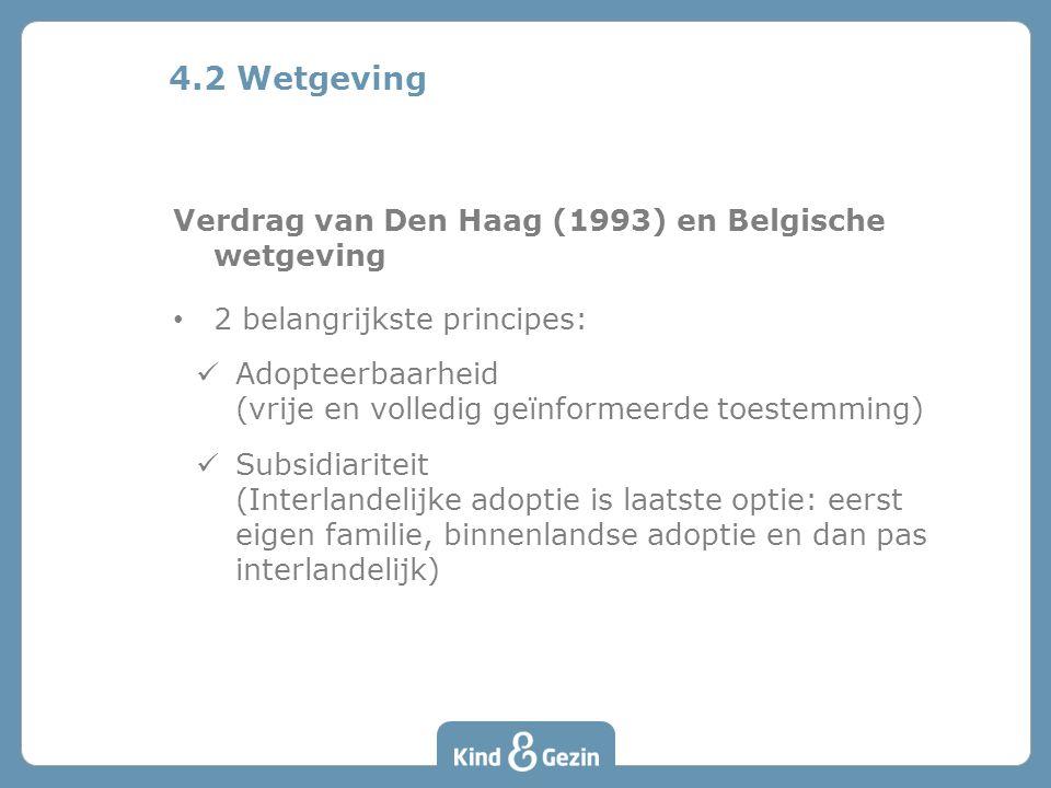 4.2 Wetgeving Verdrag van Den Haag (1993) en Belgische wetgeving