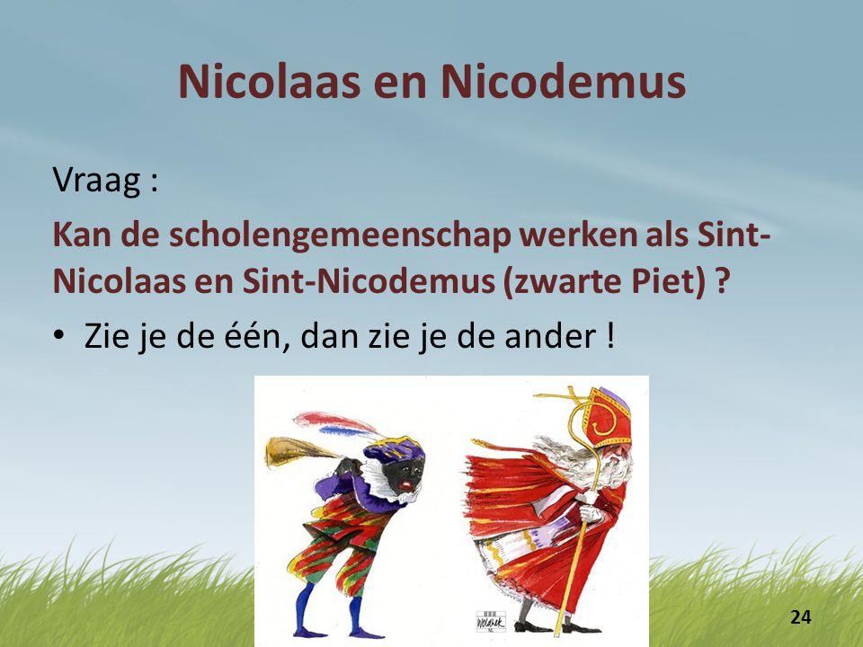 Nicolaas en Nicodemus Vraag :
