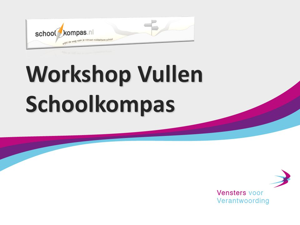 Workshop Vullen Schoolkompas