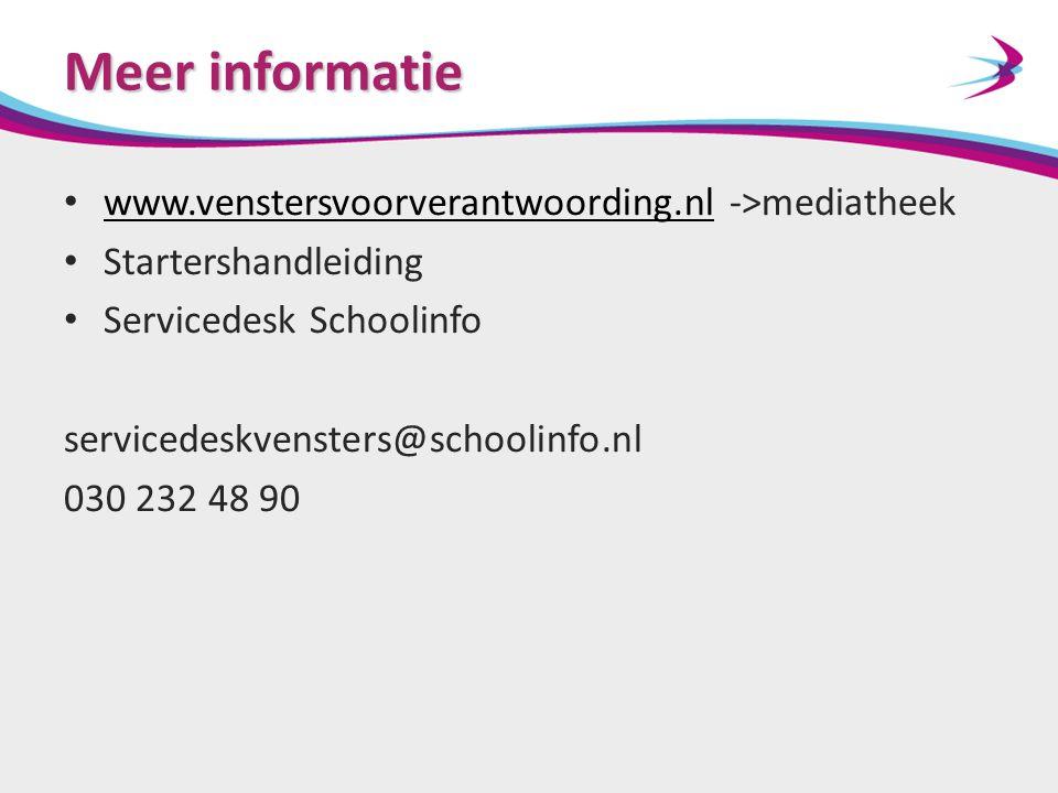Meer informatie www.venstersvoorverantwoording.nl ->mediatheek