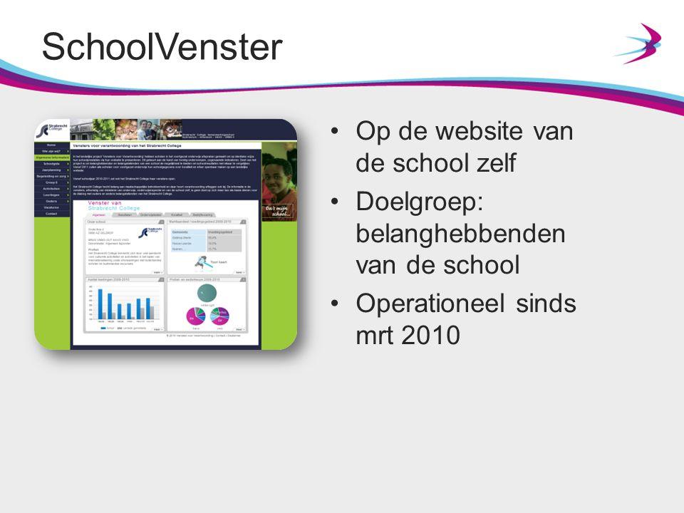 SchoolVenster Op de website van de school zelf