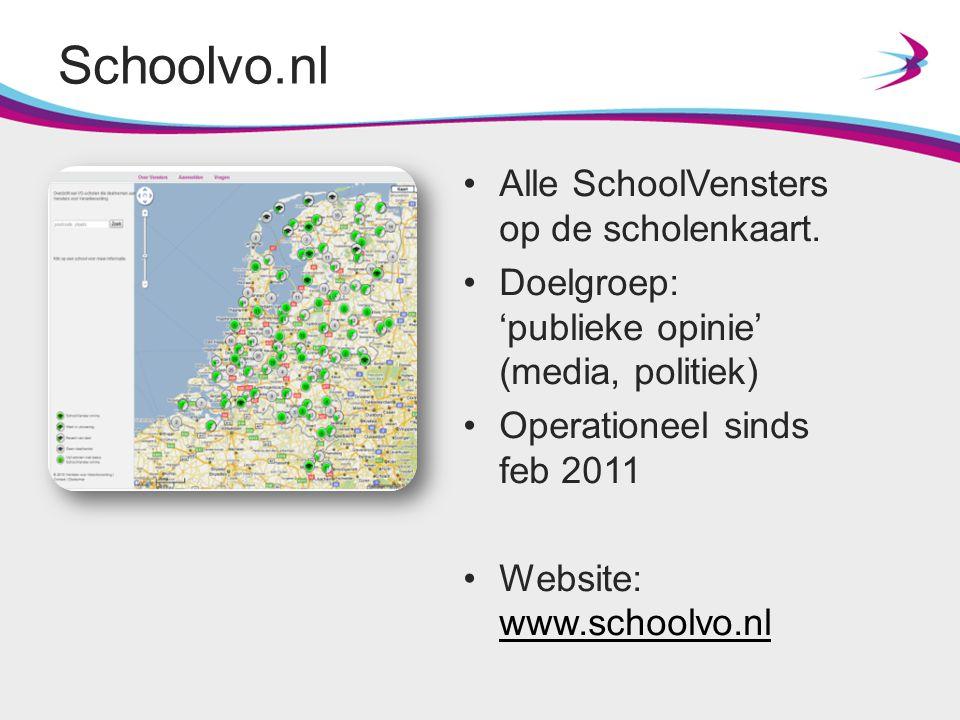 Schoolvo.nl Alle SchoolVensters op de scholenkaart.