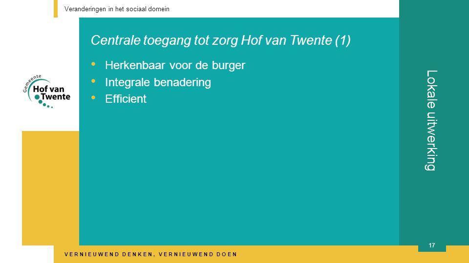Centrale toegang tot zorg Hof van Twente (1)