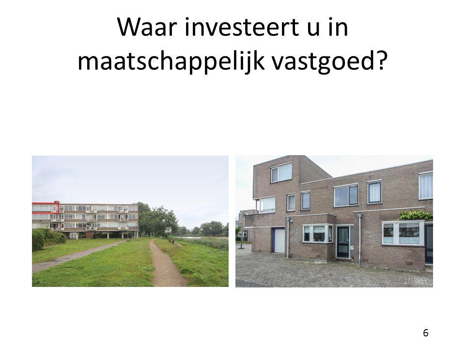 Waar investeert u in maatschappelijk vastgoed