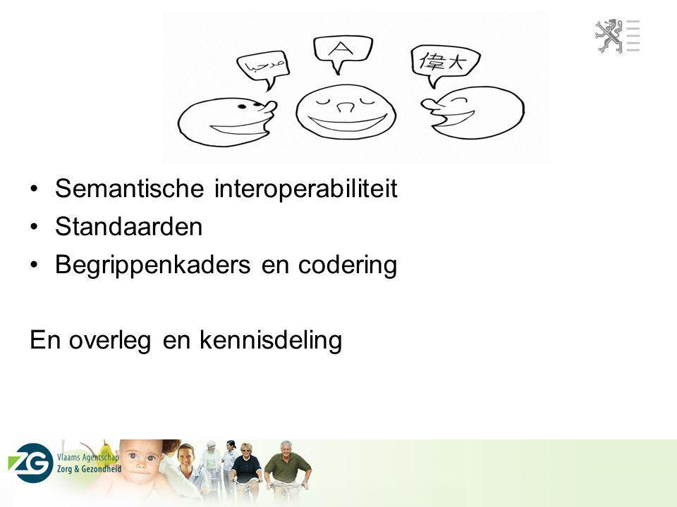 Standaarden Semantische interoperabiliteit Standaarden