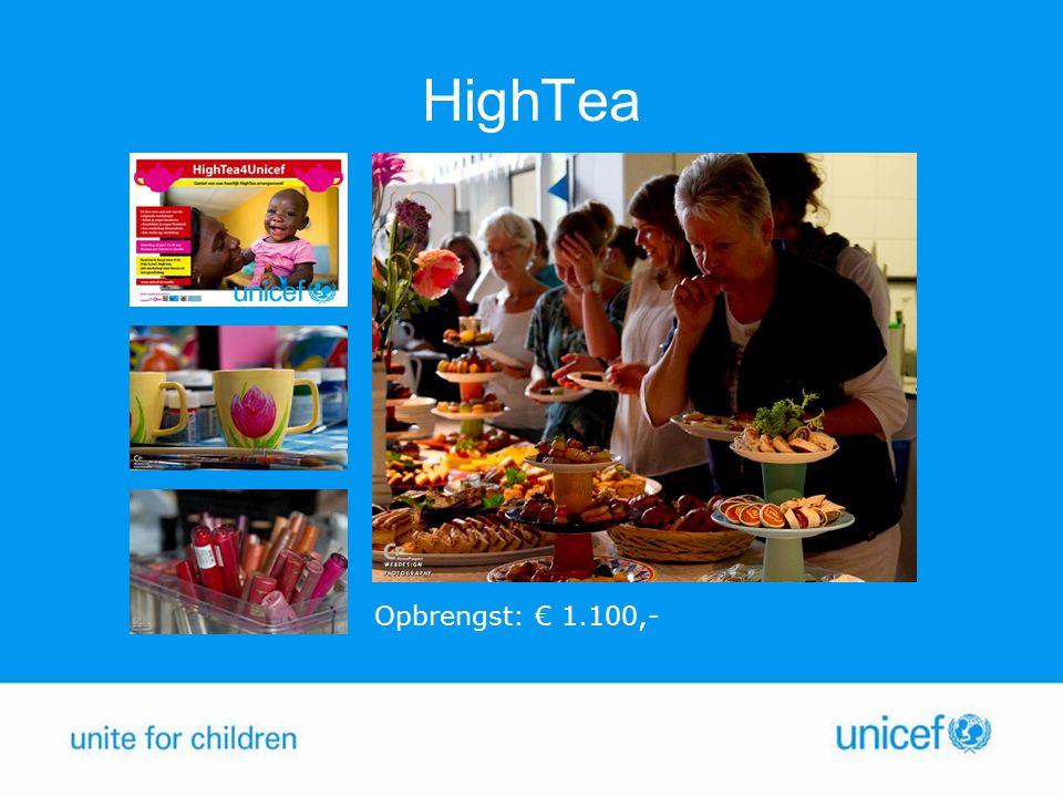 HighTea Opbrengst: € 1.100,-