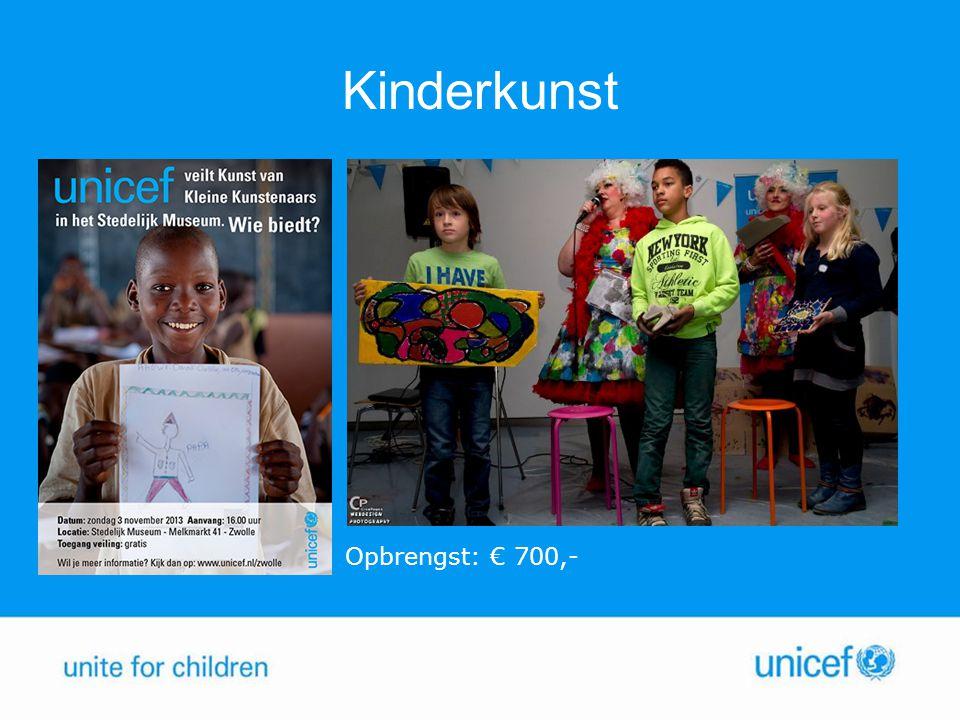 Kinderkunst Opbrengst: € 700,-