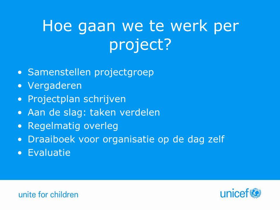 Hoe gaan we te werk per project
