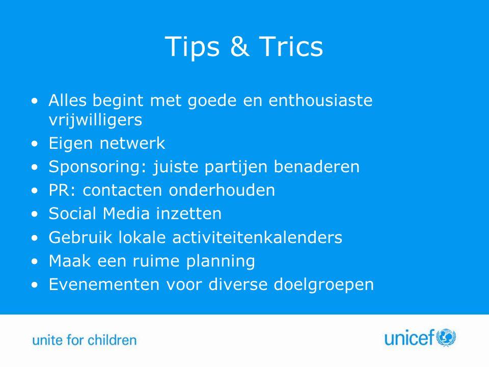 Tips & Trics Alles begint met goede en enthousiaste vrijwilligers