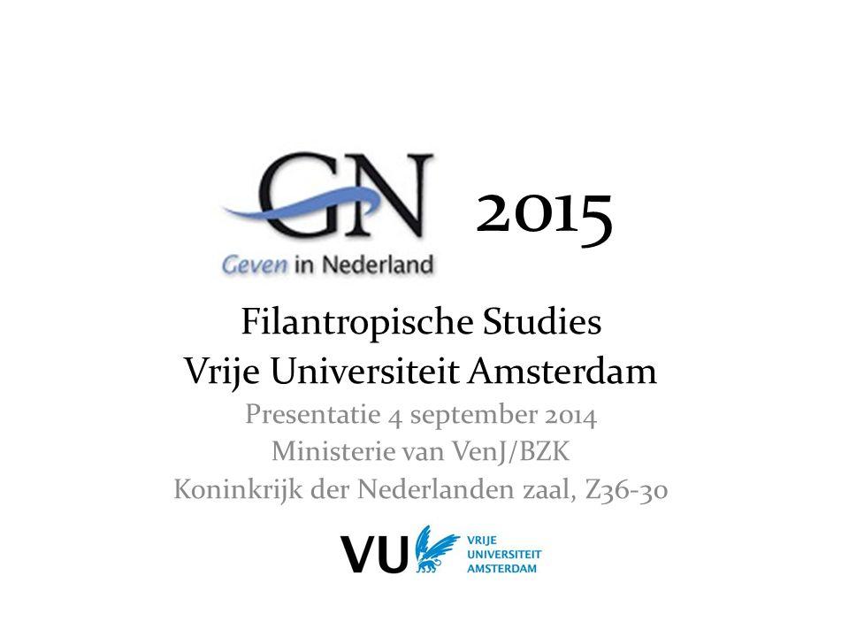2015 Filantropische Studies Vrije Universiteit Amsterdam