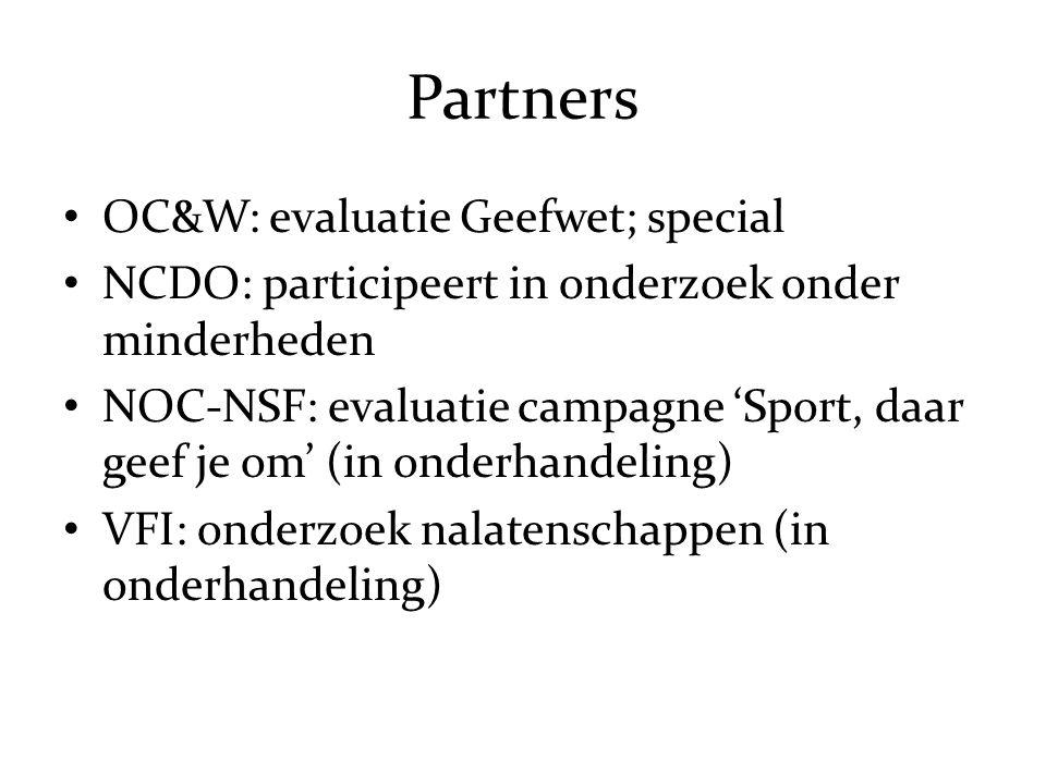 Partners OC&W: evaluatie Geefwet; special