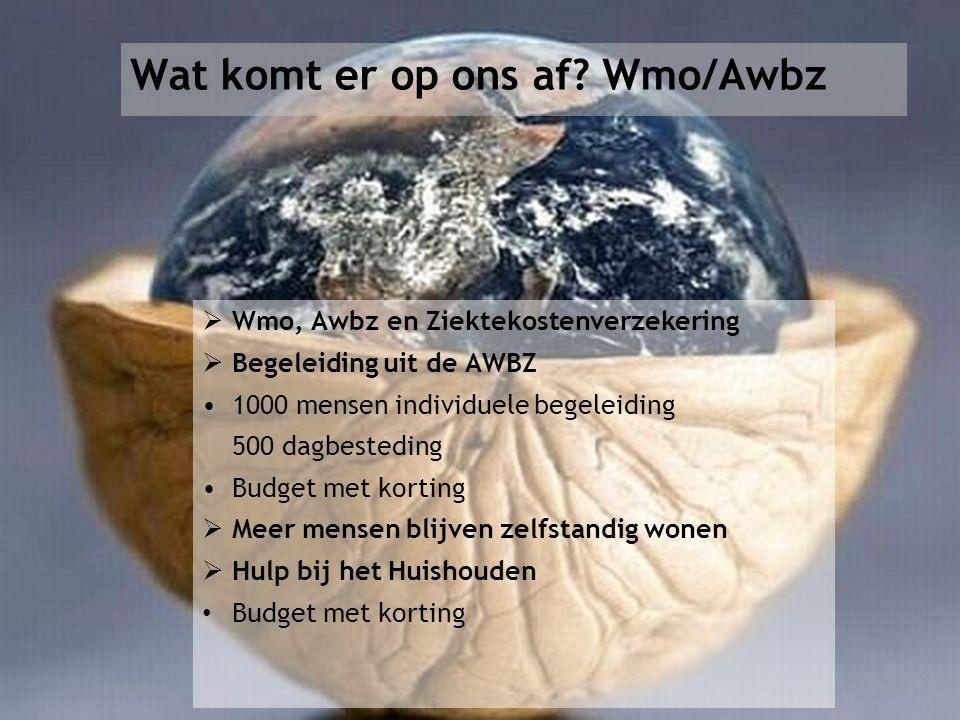 Wat komt er op ons af Wmo/Awbz