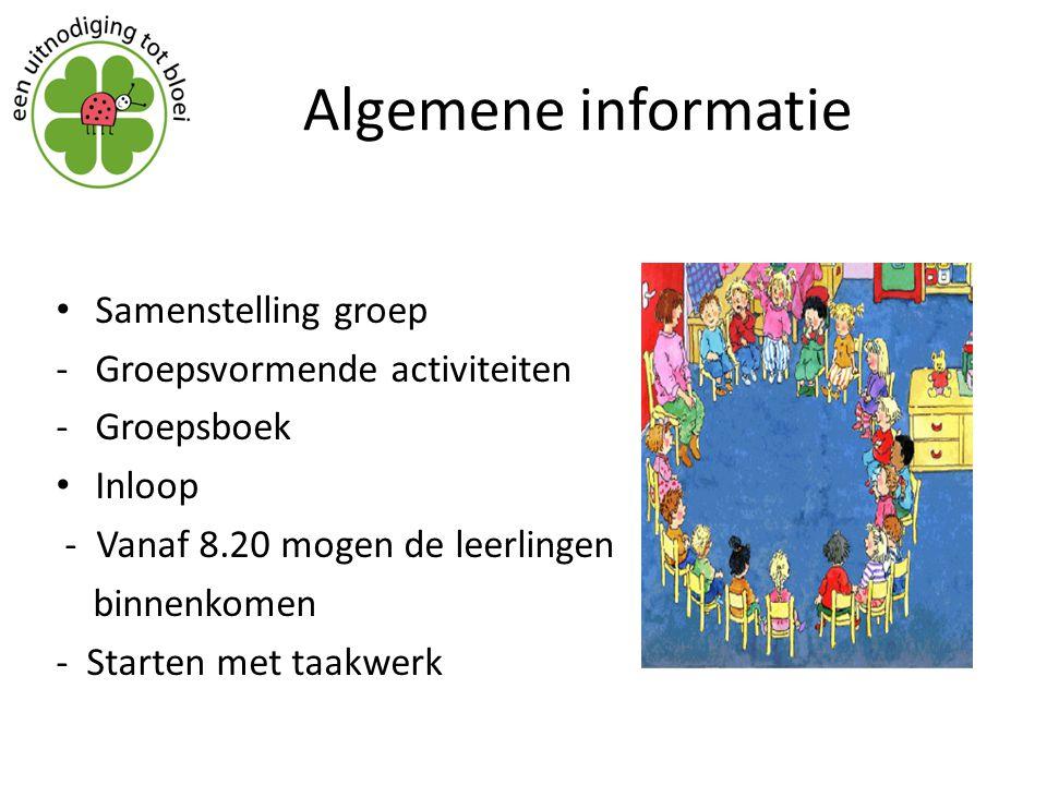Algemene informatie Samenstelling groep Groepsvormende activiteiten