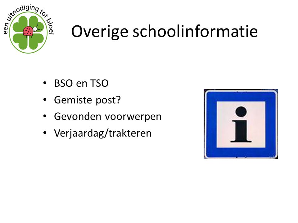 Overige schoolinformatie