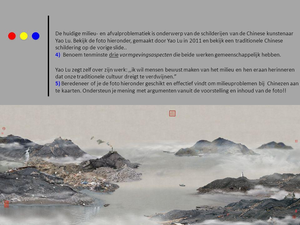 De huidige milieu- en afvalproblematiek is onderwerp van de schilderijen van de Chinese kunstenaar