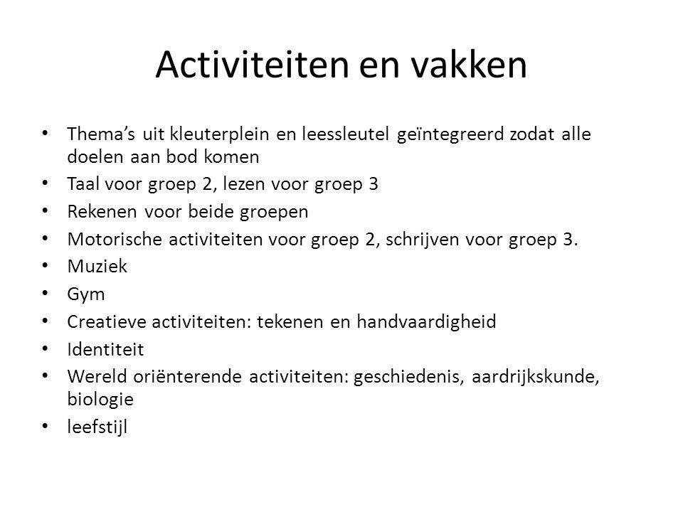 Activiteiten en vakken