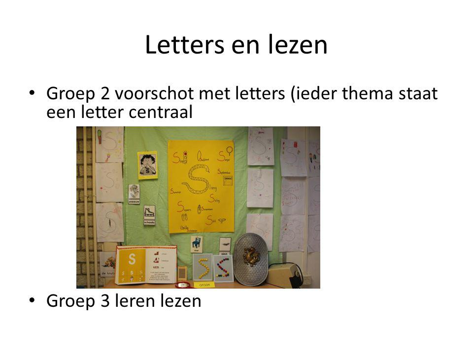 Letters en lezen Groep 2 voorschot met letters (ieder thema staat een letter centraal.