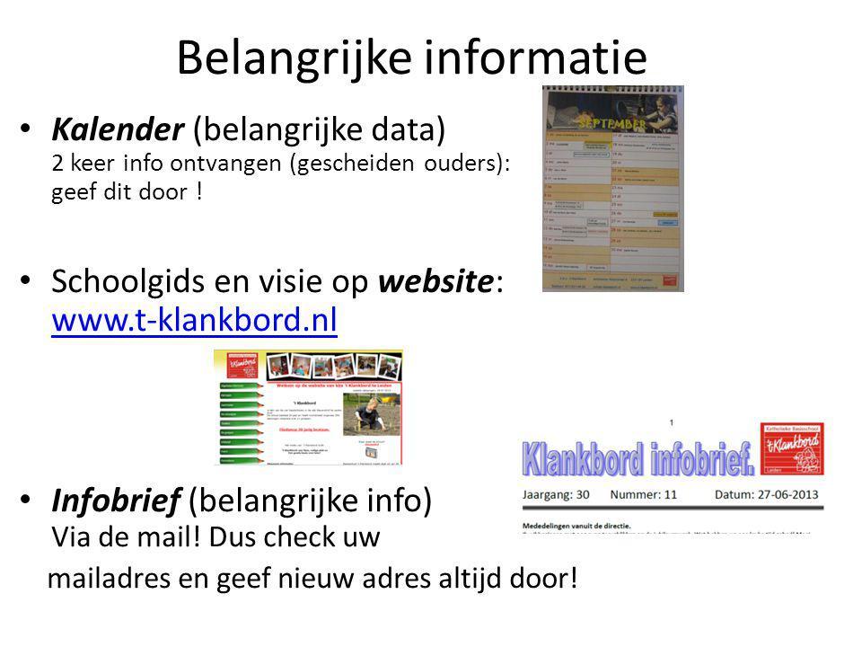 Belangrijke informatie