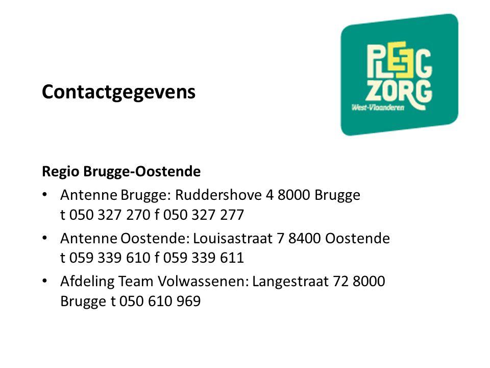 Contactgegevens Regio Brugge-Oostende