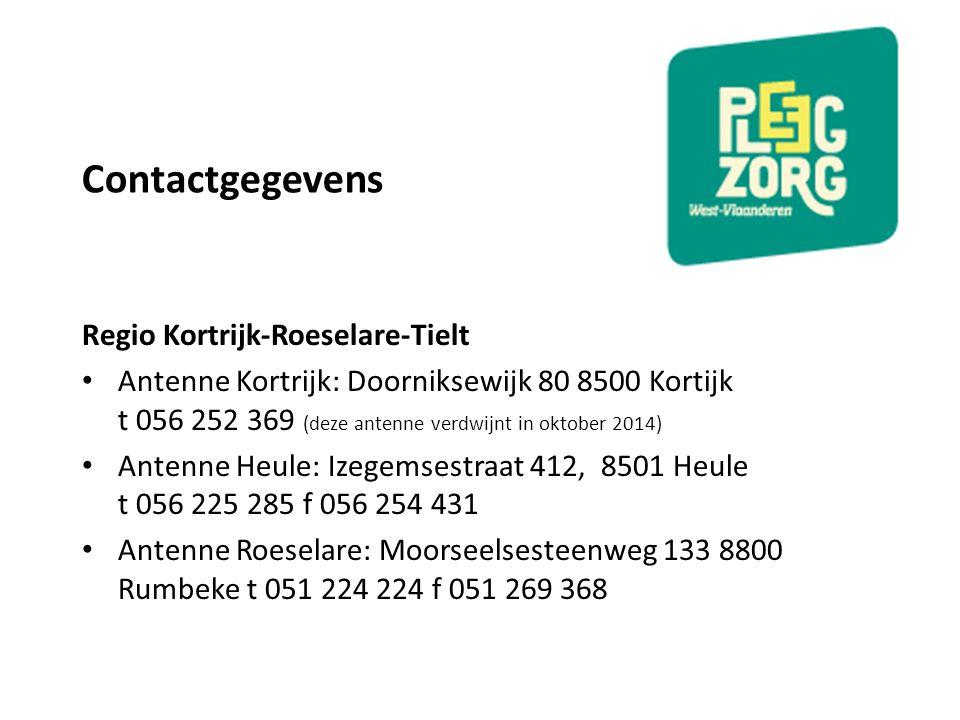 Contactgegevens Regio Kortrijk-Roeselare-Tielt