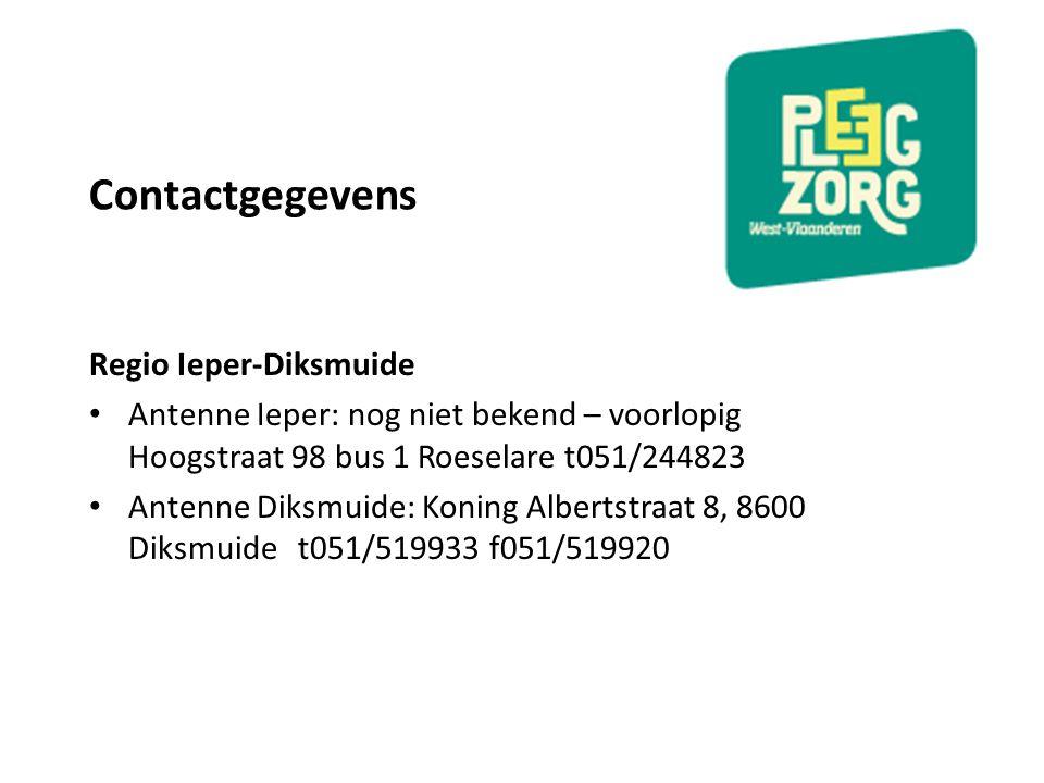 Contactgegevens Regio Ieper-Diksmuide