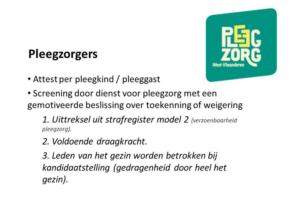 Pleegzorgers Attest per pleegkind / pleeggast